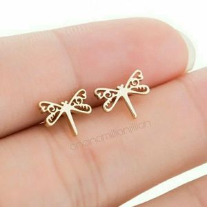 Stainless Steel Dragonfly Earrings